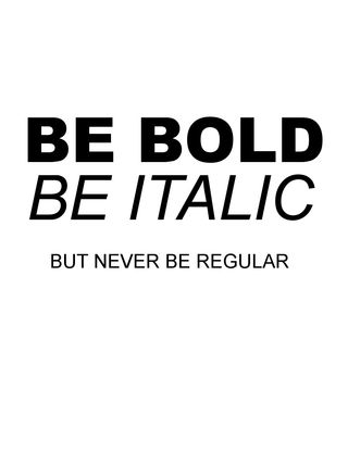 BE BOLD - FREEBIE - Kellie Winnell