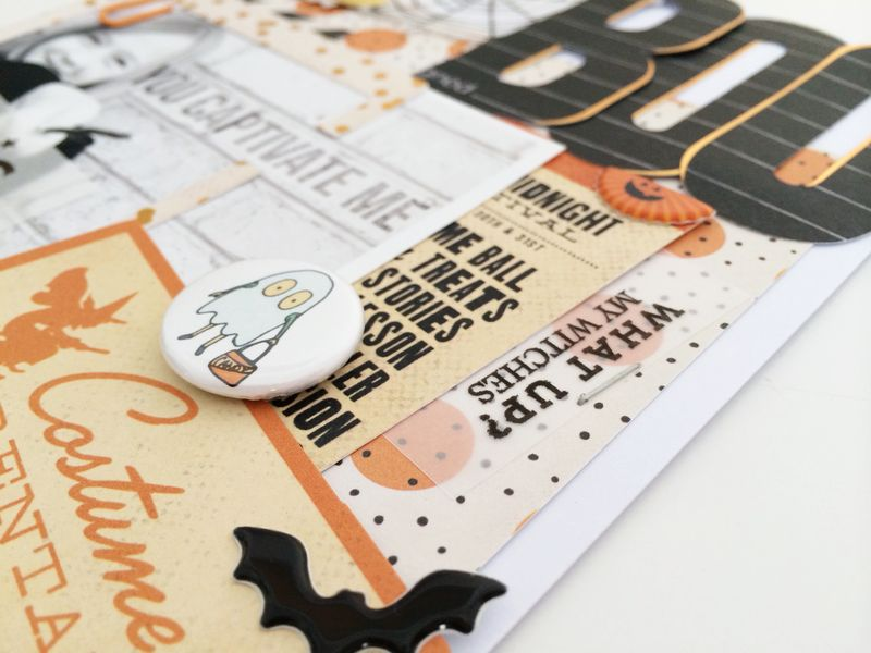 GAGAB - Kellie Winnell - BOO layout - Freebie Friday #2