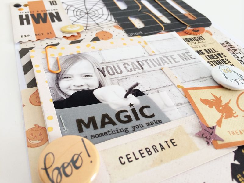 GAGAB - Kellie Winnell - BOO layout - Freebie Friday #3