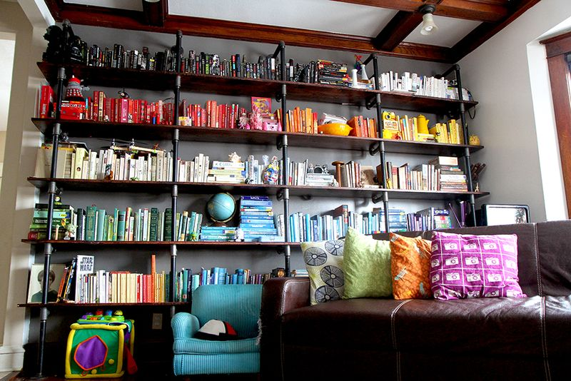ROYGBIV Pipe Bookshelves _ The Nerd Nest