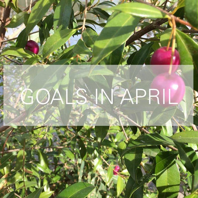 GOALS APRIL