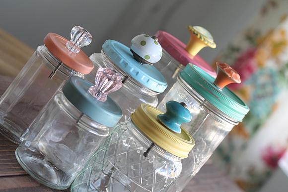 10 knob jars complete