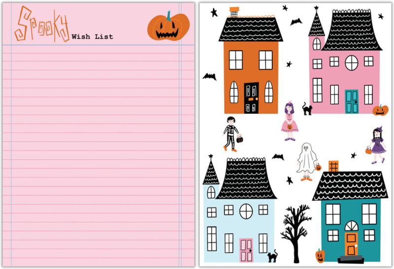 TRICK OR TREAT TFC PLANNER INSERTS